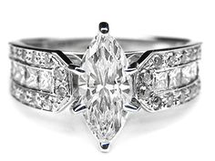 Marquise Diamond Vintage Engagement Ring