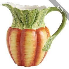 Pier 1 Imports Carrot Pitcher