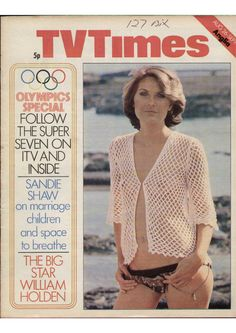 Sandie Shaw on the cover of TV Times. August 1972