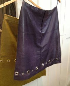 Leather grommet skirts