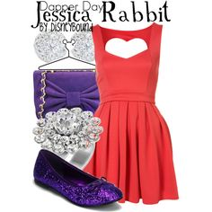 """Jessica Rabbit"" by lalakay on Polyvore #disney"