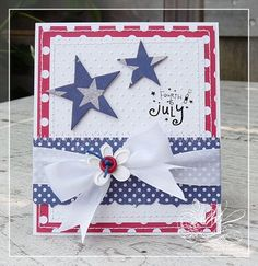 clean and simple 4th of July card