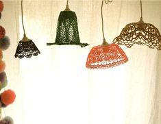 Crochet lamp by textile designer  Véronique Damart http://www.maillo-design.com/#!projets #home_decor #DIY