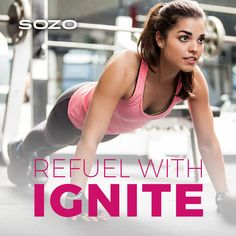 Ready for a mid-day #workout? Stay energized the with SOZO's #Ignite Natural Energy Drink! #LifeEmpowered