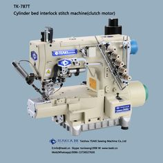 TK-787T cylinder bed interlock stitch machine(clutch motor)