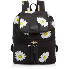 kate spade new york Clark Court Nylon Marin Backpack ($260) ❤ liked on Polyvore featuring bags, backpacks, black, lullabies, daisy backpack, nylon bag, rucksack bag, day pack backpack and knapsack bags