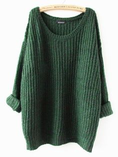 Knit sweater with oversized look. Made with a blend of cotton, wool & cashmere, a little over 3/4 quarter sleeves. Onesize fits most, fits best on XSmall, Small, Medium. Measures: Bust 41inches, Length 25inches.