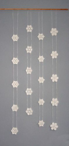 Crochet Snowflake Garland fromch1306on Etsy.