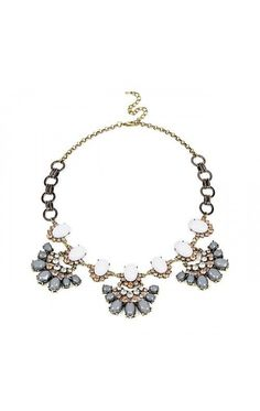 Chain Link Floral Necklace  - MULTI