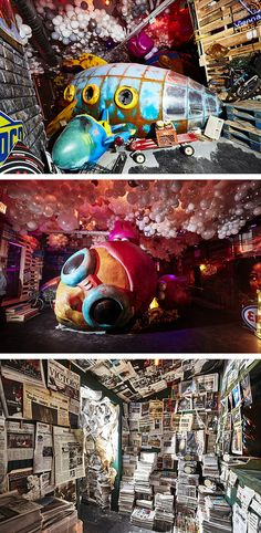 Nevermore Park Manifests the Fictional Universe of Hebru Brantley's Flyboy and Lil Mama Colossal Art, Installation Art, Illusions, Sci Fi, Universe, Culture, Park, Design, Outer Space