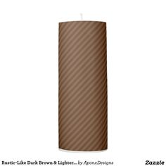 Rustic-Like Dark Brown & Lighter Brown Stripes/Lin