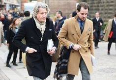 Tommy Ton's Street Style: Pitti Uomo Fall 2013 - double-breasted outerwear