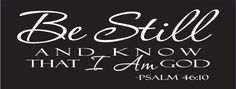 Be Still by QuillenSigns on Etsy, $28.00