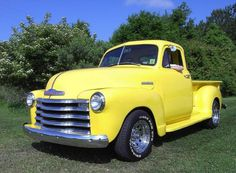 post by Old Yeller  Yellow Chevy Truck