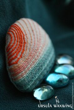 Брошь из ткани, брошь с вышивкой Чуть позже полудня. Handmade. #emboidery