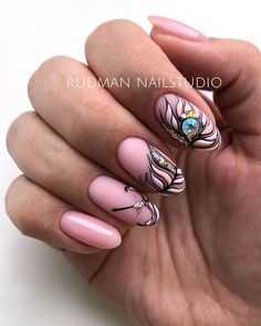 Round Shaped Nails, Short Round Nails, Almond Nails Designs Summer, Cute Gel Nails, Red Acrylic Nails, Oval Nails, Luxury Nails, Nails On Fleek, Nail Arts