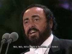 """Nessun Dorma,"" by Luciano Pavarotti - 1994 (High Quality With Lyrics.) ""Nessun dorma"" (English: None Shall Sleep) is an aria from the final act of Giacomo Puccini's opera ""Turandot."" If this performance doesn't make the hair stand up on the back of your neck... something's seriously wrong and you should have yourself checked! :o)"