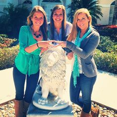 ADPi sisters showing off the always fabulous Alphie! #boomboom