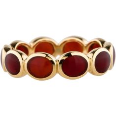 Pre-owned Ippolita 18K Chalcedony Band ($695) ❤ liked on Polyvore featuring jewelry, rings, chalcedony ring, band rings, chalcedony jewelry, pre owned rings and ippolita