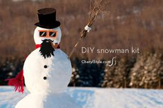 Create hip snowmen with this snowman kit printable - CherylStyle