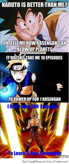 A Reply From Goku To Naruto A esto le llamo deskite. Best answer ever jiji Dbz Memes, Anime Crossover, Dragon Ball Gt, Manga Anime, Funny Pictures, Funny Pics, Pokemon, Otaku Issues, Funny Dragon