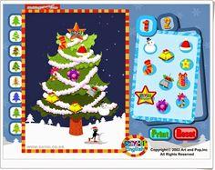 """""""Christmas tree"""" es un sencillo juego para confeccionar e imprimir, si se quiere, el árbol de Navidad."""