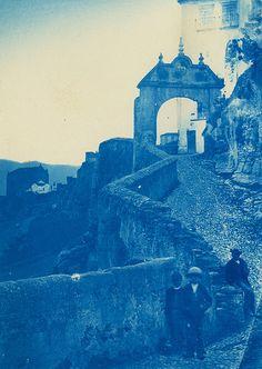 Carl Curman, Ronda, Málaga, Andalucía, Spain, 1878. Cyanotype