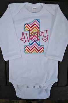 Rainbow Chevron Birthday Shirt or Onesie by adeichhorn on Etsy, $26.00