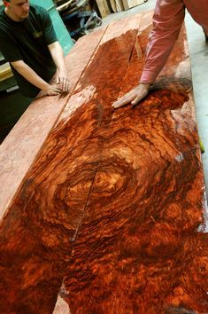 quilted book-matched bubinga ~ hearne hardwoods inc, for a lustworthy kitchen table.
