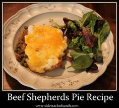 Beef Shepherds Pie Recipe for Crockpot ***FEEDBACK: Easy and yummy. Didn't have enough meat so added some kidney beans.