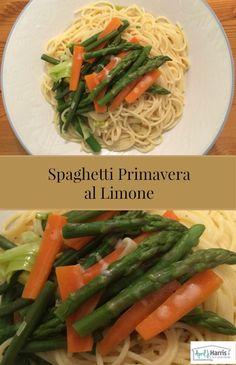Spaghetti Primavera al Limone - an easy vegetarian pasta dish featuring fresh spring vegetables