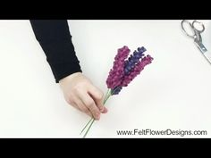 How To Make Fabric Flowers - Lavender Flowers - YouTube