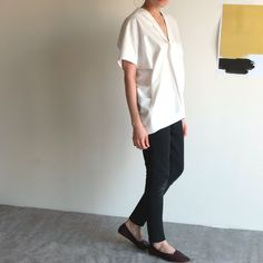 Lotus #blouse with #kimono sleeves and a #boxy silhouette