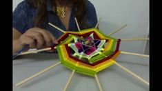 Mandala: Fractals of the Fruit of Life Mandala Artwork, Mandala Painting, Fall Crafts, Diy And Crafts, God's Eye Craft, Dream Catcher Mandala, Gods Eye, Flower Embroidery Designs, Art Textile