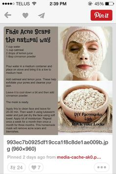 Acne Scar Remover The Natural Way !!