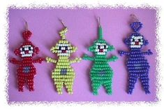 Pony Bead Projects, Pony Bead Crafts, Wire Crafts, Pony Bead Animals, Beaded Animals, Pony Bead Patterns, Beading Patterns, Safety Pin Jewelry, Beading For Kids