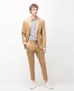 Outfit casual camisa camisa camisa gris pantalon azul de vestir zapatos gris bff94a