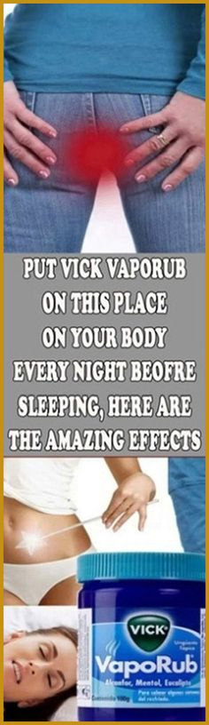 Put Vicks Vaporub On This Place On Your Body Every Night Before Sleeping. Here Are The Amazing Effects Put Vicks Vaporub On This Place On Your Body Every Night Before Sleeping. Here Are The Amazing Effects Vicks Vaporub, Medicine Book, Herbal Medicine, Natural Medicine, Pms, Home Remedies For Hemorrhoids, Cold Symptoms, Nasal Congestion, Before Sleep