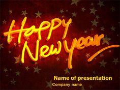 happy new year theme presentation template