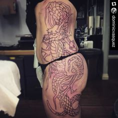 ...and here is the dragon side! Outline done.  #Repost @dominicvasquez with @repostapp.  Tough start of a big drawn on project for @yarnosity #tattoo #sandiegotattoo #sandiego #superflytattoo #rlocj #tattoolife #northpark #southpark #sandiegotattooshop #realtattoos #customtattoos #broadwaytattoos #sandiegojapanesetattoos #japanesetattoos #japanesetattoocollective #girlswithink #girlswithtattoos #inkedgirl