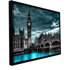Art Wall 'London' by Revolver Ocelot Framed Graphic Art on Wrapped Canvas