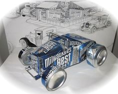 soda can model instructions Recycled Toys, Recycled Jewelry, Recycled Crafts, Pop Can Art, Pop Can Crafts, Custom Metal Work, Aluminum Can Crafts, Recycle Cans, Beer Art