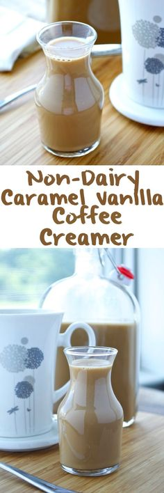 Caramel Vanilla Coffee Creamer Looking for a healthier replacement for your coffee creamer? This delicious homemade caramel vanilla coffee creamer is dairy-free, gluten-free, vegan, and free of refined sugar. Dairy Free Coffee Creamer, Vanilla Coffee Creamer, Homemade Coffee Creamer, Coffee Creamer Recipe, Sugar Free Coffee Creamer, Healthy Coffee Creamer, Lactose Free Creamer, Almond Milk Creamer, Dairy Free