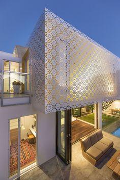 exemple façade blanche perforée