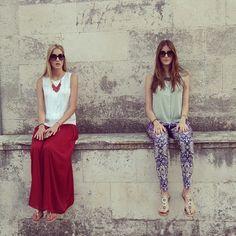 Inspiration is everywhere... #inspiration #korcula #island #croatia #twins #sisters #fashion #fashionblog #stylish #fun #skirt #accessories #sunglasses #sandals #colorful #summer