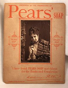 Antique Victorian Pear's Soap Trade Advertisment Card Featuring Adelina Patti