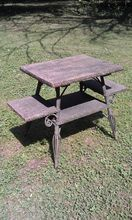 Antique Wicker Table With Shelves Circa 1890's