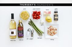 Thursday's ingredients