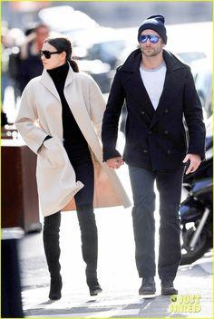 Bradley Cooper & Irina Shayk Hold Hands in Paris