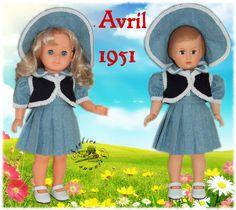 www.atelierarianne.com  Tenue M&T pour Françoise , Marie-Françoise Avril 1951